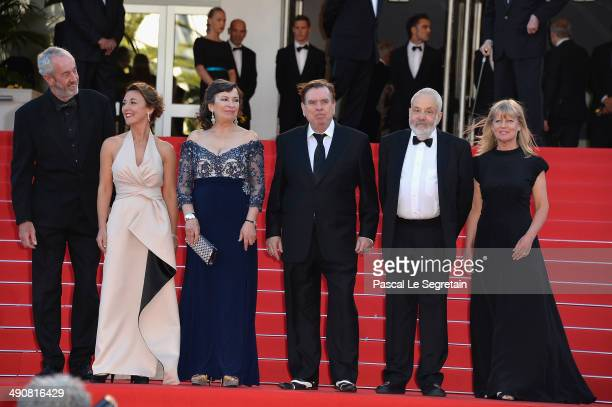 Director of Photography Dick Pope actors Dorothy Atkinson Marion Bailey Timothy Spall director Mike Leigh and producer Georgina Lowe attend the...