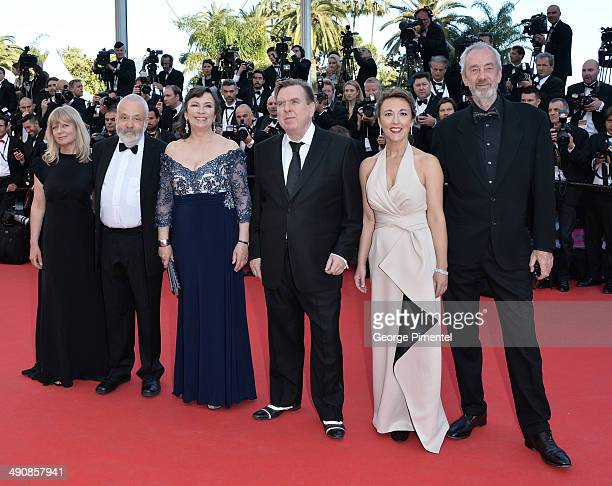 Director of Photography Dick Pope Dorothy Atkinson Timothy Spall Marion Bailey director Mike Leigh and producer Georgina Lowe attend the 'MrTurner'...
