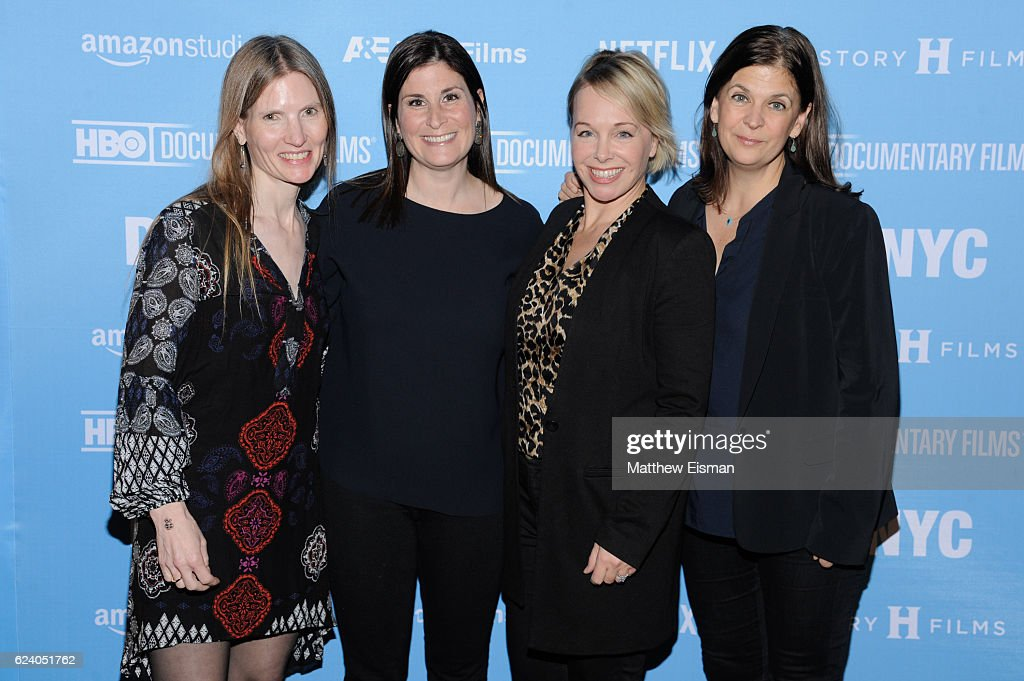 Director of Photography Laela Kilbourn, director Lara Stolman, producer Shanna Belott and editor Ann Collins attend the New York premiere of 'Swim Team' at DOC NYC on November 17, 2016 in New York City.