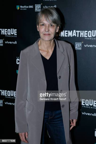 Director of Photography of the movie Agnes Godard attends the 'Un beau soleil interieur' Paris Premiere at La Cinematheque on September 25 2017 in...