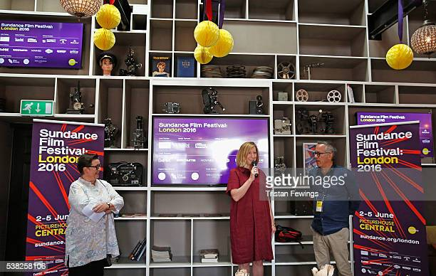 Director of Picturehouse Cinemas Lyn Goleby Executive Director of Sundance Keri Putnam and Sundance Film Festival Director John Cooper speak at the...