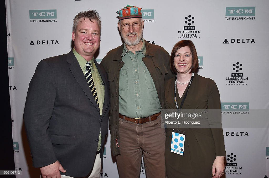 Director of Program Production, Studio Production & Programming Scott McGee, actor <a gi-track='captionPersonalityLinkClicked' href=/galleries/search?phrase=James+Cromwell&family=editorial&specificpeople=211295 ng-click='$event.stopPropagation()'>James Cromwell</a> and and Managing Director of TCM Classic Film Festival Genevieve McGillicuddy attend 'Lassie Come Home' during day 2 of the TCM Classic Film Festival 2016 on April 29, 2016 in Los Angeles, California. 25826_006