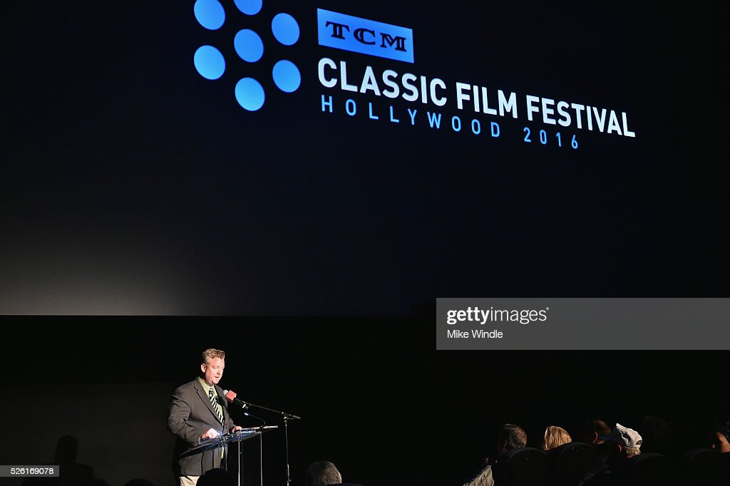 Director of Program Production, Studio Production & Programming Scott McGee speaks onstage at 'Trapeze' during day 2 of the TCM Classic Film Festival 2016 on April 29, 2016 in Los Angeles, California. 25826_008