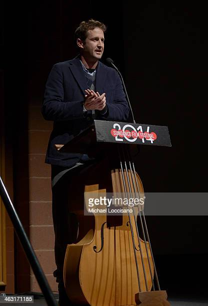 Director of Programming for the Sundance Film Festival Trevor Groth speaks at the premiere of 'Dinosaur 13' at the Eccles Center Theatre during the...
