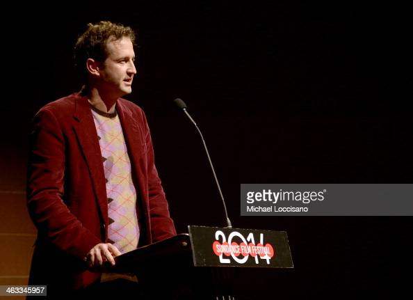 Director of Programming for the Sundance Film Festival Trevor Groth speaks during the 'God's Pocket' premiere at Eccles Center Theatre during the...