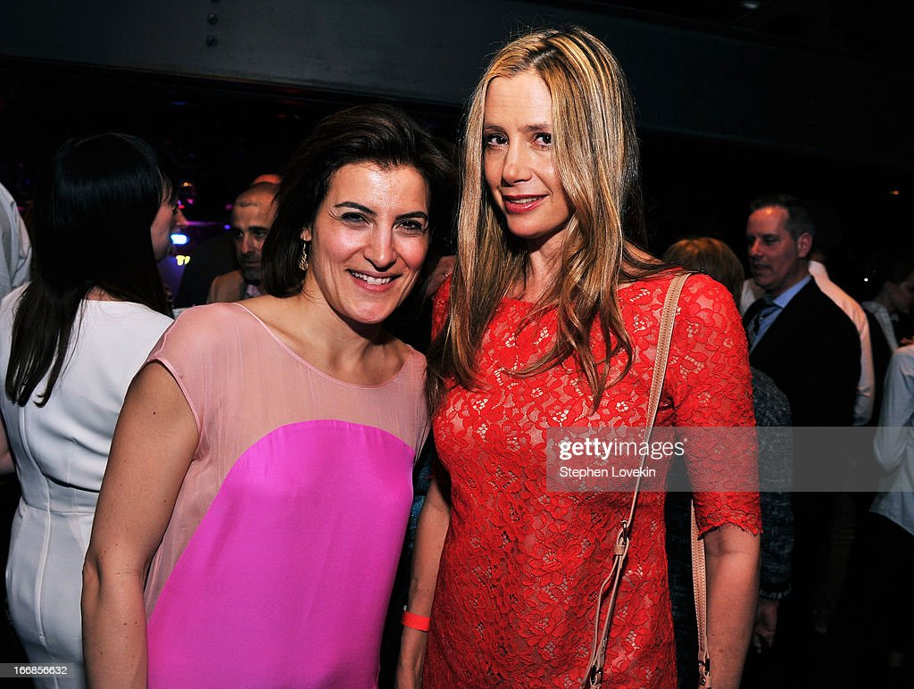 Director of Programming for Tribeca Film Festival Genna Terranova and <a gi-track='captionPersonalityLinkClicked' href=/galleries/search?phrase=Mira+Sorvino&family=editorial&specificpeople=203143 ng-click='$event.stopPropagation()'>Mira Sorvino</a> attend the Opening Night After Party and Performance during the 2013 Tribeca Film Festival on April 17, 2013 in New York City.