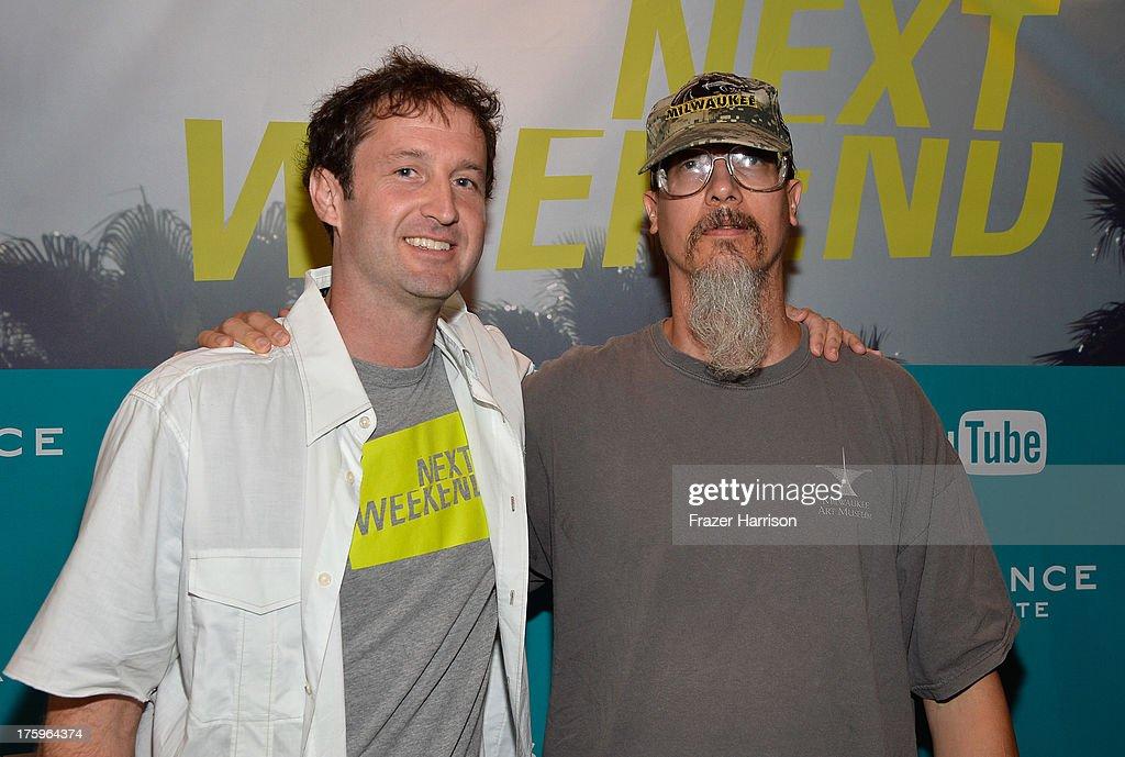 Director of Programming, Sundance Film Festival Trevor Groth and Filmmaker Mark Borchardt attend NEXT WEEKEND, presented by Sundance Institute at Sundance Sunset Cinema on August 10, 2013 in Los Angeles, California.