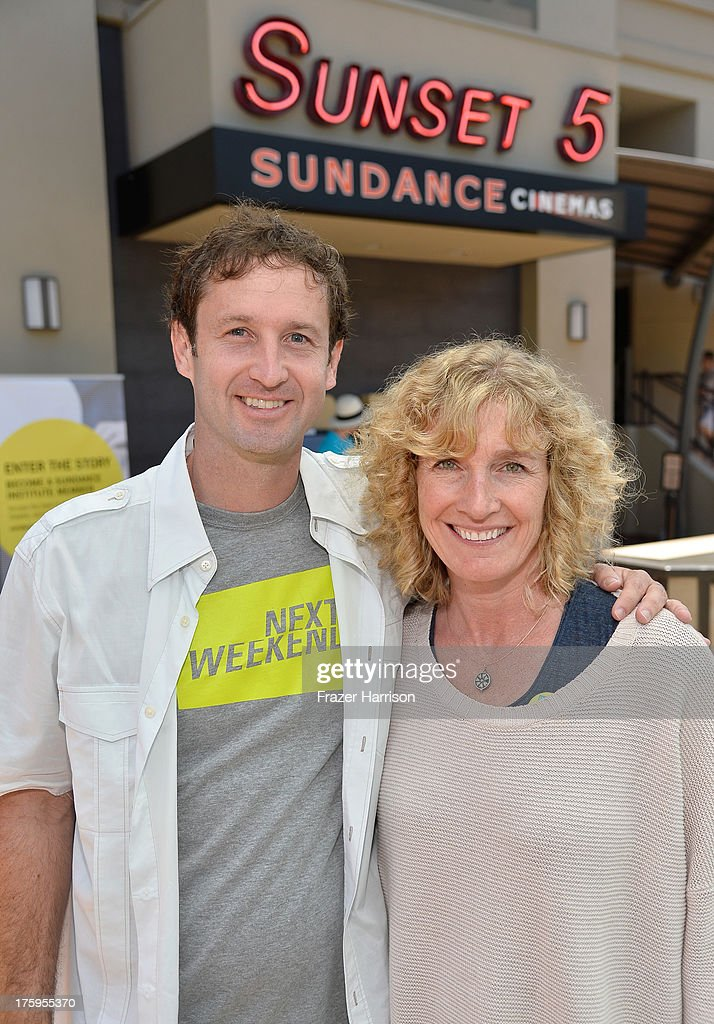 Director of Programming, Sundance Film Festival <a gi-track='captionPersonalityLinkClicked' href=/galleries/search?phrase=Trevor+Groth&family=editorial&specificpeople=561179 ng-click='$event.stopPropagation()'>Trevor Groth</a> (L) and director of operations for the Sundance Film Festival Sarah Pearce attend NEXT WEEKEND, presented by Sundance Institute at Sundance Sunset Cinema on August 10, 2013 in Los Angeles, California.
