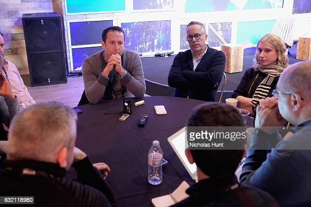 Director of Programming Trevor Groth and Director of Sundance Film Festival John Cooper speaks at the Press Junket Reception during day 1 of the 2017...