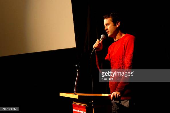 Director of Programming Trevor Groth speaks at Behind The Scenes Of 'Anomalisa' during the 2016 Sundance Film Festival at Library Center Theater on...