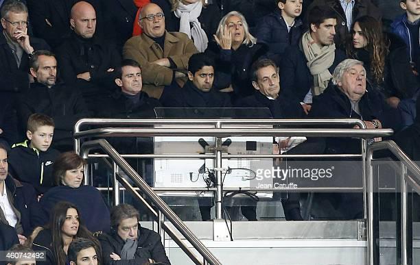 Director of PSG JeanClaude Blanc French Prime Minister Manuel Valls President of PSG Nasser AlKhelaifi Former French President Nicolas Sarkozy...