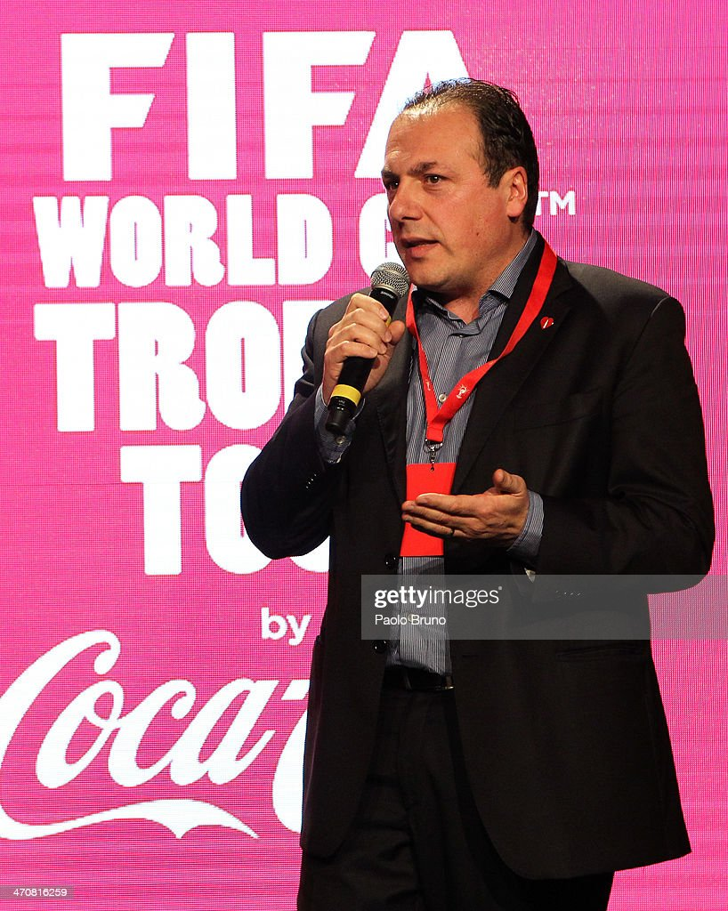 Director of Public Affairs & Communications of Coca-Cola Italy Vittorio Cino attends a party during day two of the FIFA World Cup Trophy Tour on February 20, 2014 in Rome, Italy.