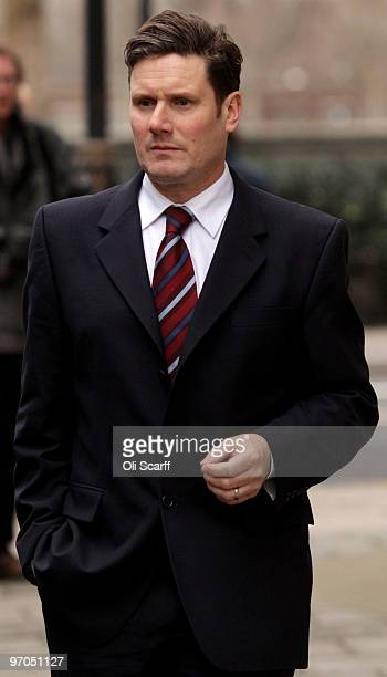 Director of Public Prosecutions Keir Starmer QC leaves a television studio on February 25 2010 in London England New guidelines released today by the...