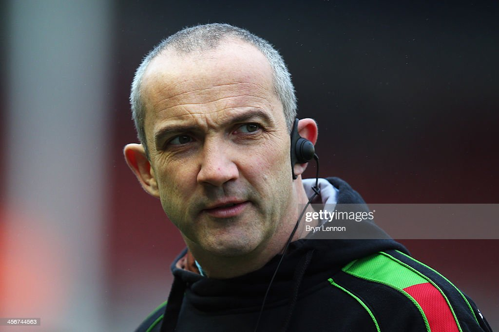 Director of Rugby at Harlequins Conor O'Shea looks on prior to the Heineken Cup Pool 4 round 4 match between Harlequins and Racing Metro 92 at...