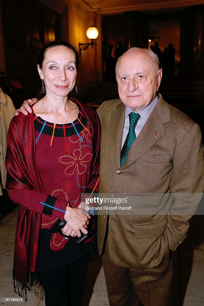 Director of School Dance of Opera de Paris Elisabeth Platel and <a gi-track='captionPersonalityLinkClicked' href=/galleries/search?phrase=Pierre+Berge&family=editorial&specificpeople=770934 ng-click='$event.stopPropagation()'>Pierre Berge</a> attend Star Dancer Nicolas le Riche receives the Insignia of Officer of the Legion of Honour from <a gi-track='captionPersonalityLinkClicked' href=/galleries/search?phrase=Pierre+Berge&family=editorial&specificpeople=770934 ng-click='$event.stopPropagation()'>Pierre Berge</a>, at Opera Garnier on November 6, 2013 in Paris, France.