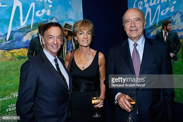 Director of sponsorship LVMH JeanPaul Claverie Politician Alain Juppe and his wife Isabelle attend the 'Cezanne et Moi' movie Premiere to Benefit...