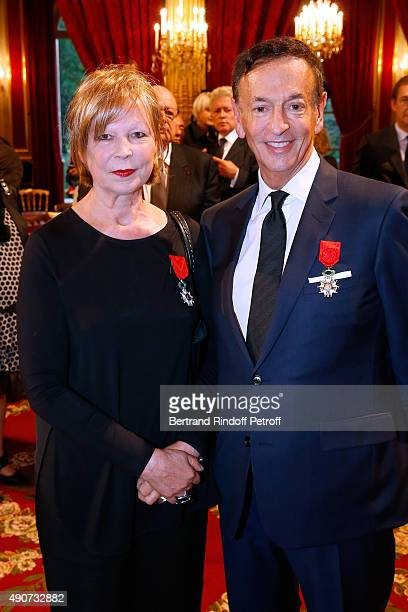 Director of sponsorship LVMH JeanPaul Claverie receives Insignia of Officer of the Legion of Honor and Writer Lydie Salvayre receives Insignia of...