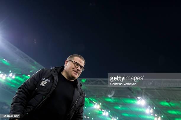 Director of Sport Max Eberl of Borussia Moenchengladbach ahead the UEFA Europa League match between Borussia Moenchengladbach and FC Schalke 04 at...