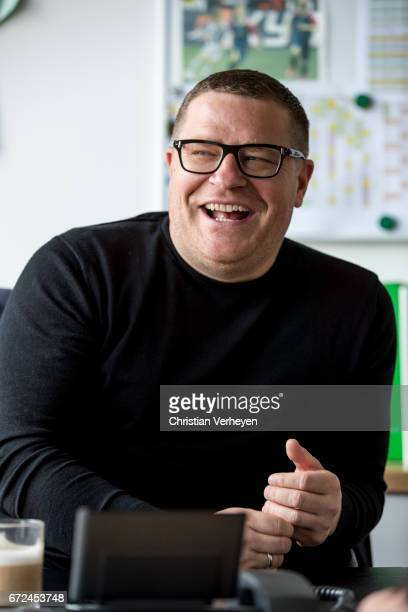 Director of Sport Max Eberl of Borussia Moenchengladbach during a interview session at BorussiaPark on April 12 2017 in Moenchengladbach Germany