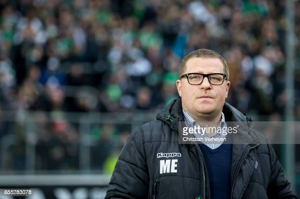 Director of Sport Max Eberl of Borussia Moenchengladbach during the Bundesliga Match between Borussia Moenchengladbach and Bayern Muenchen at...