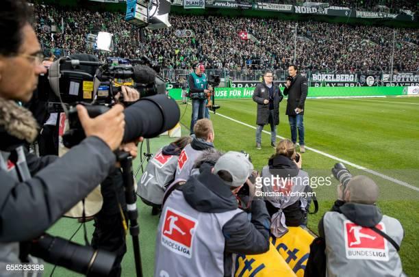 Director of Sport Max Eberl of Borussia Moenchengladbach in an interview prior the Bundesliga Match between Borussia Moenchengladbach and Bayern...