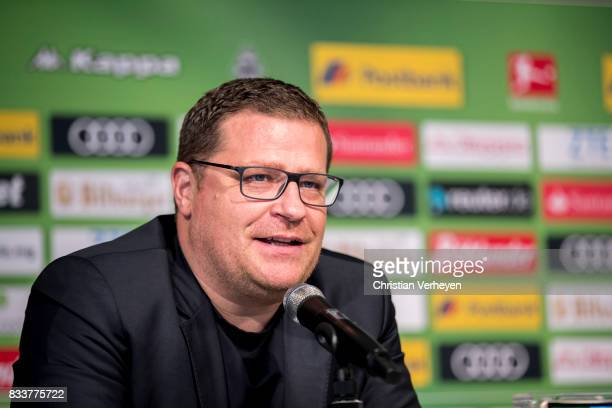 Director of Sport Max Eberl of Borussia Moenchengladbach talks to the media after Raul Bobadilla signs a new contract for Borussia Moenchengladbach...