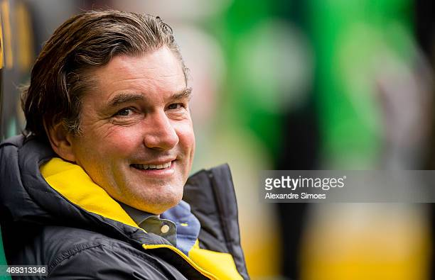 Director of sport Michael Zorc of Borussia Dortmundlooks on prior to the Bundesliga match between Borussia Moenchengladbach and Borussia Dortmund at...