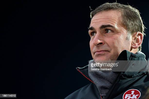 Director of sport Stefan Kuntz of Kaiserslautern looks on prior to the Second Bundesliga match between VfL Bochum and 1 FC Kaiserslautern at...