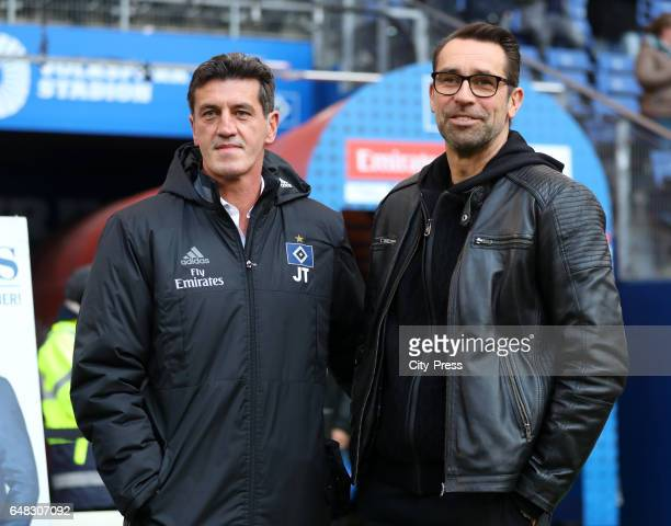 director of sports Jens Todt of Hamburger SV and CEO Michael Preetz of Hertha BSC before the game between Hamburger SV and Hertha BSC on march 5 2017...