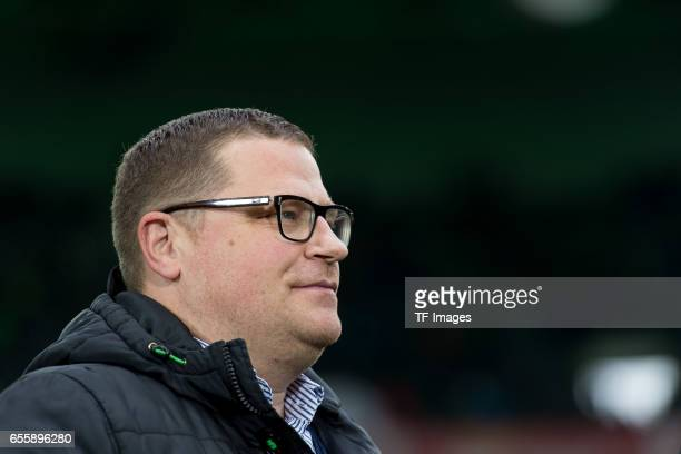 Director of Sports Max Eberl of Borussia Moenchengladbach looks on during the Bundesliga match between Borussia Moenchengladbach and Bayern Muenchen...