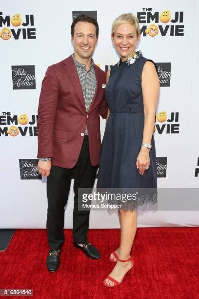 Director of Stores for Saks Fifth Avenue John Antonini and Sony SVP Jasmine Stevens attend the Saks Fifth Avenue and Sony Picture Animation's...