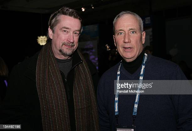 Director of Sundance Film Festival Geoffrey Gilmore and Chief Content officer of PBS John Boland attend the PBS Reception at the Sundance House...