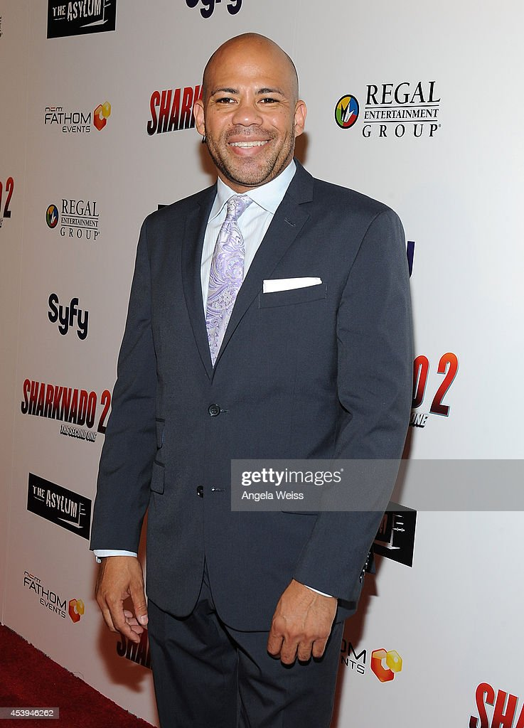 Director of talent Gerald Webb attends the premiere of The Asylum & Fathom Events' 'Sharknado 2: The Second One' at Regal Cinemas L.A. Live on August 21, 2014 in Los Angeles, California.