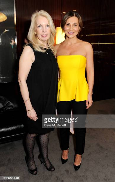 Director of the BFI Amanda Nevill and Ella Krasner attend a VIP screening of 'Byzantium' hosted by the BFI with Gemma Arterton at the Bulgari Hotel...
