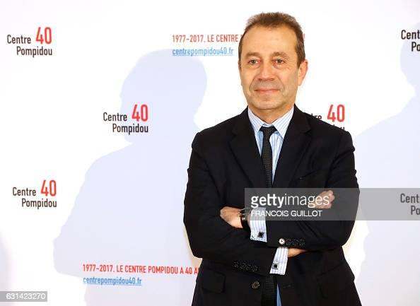 Director of the Bibliotheque nationale de France Bruno Racine poses during the 40th anniversary of the Centre Georges Pompidou in Paris on January 10...