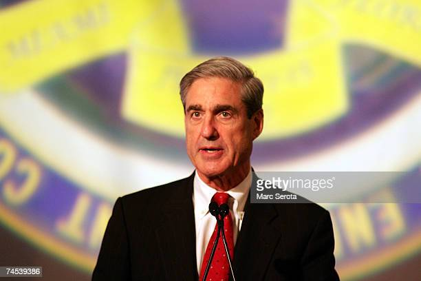Director of the FBI Robert S Mueller speaks at the Global Initiative to Combat Nuclear Terrorism International Law Enforcement Conference June 11...