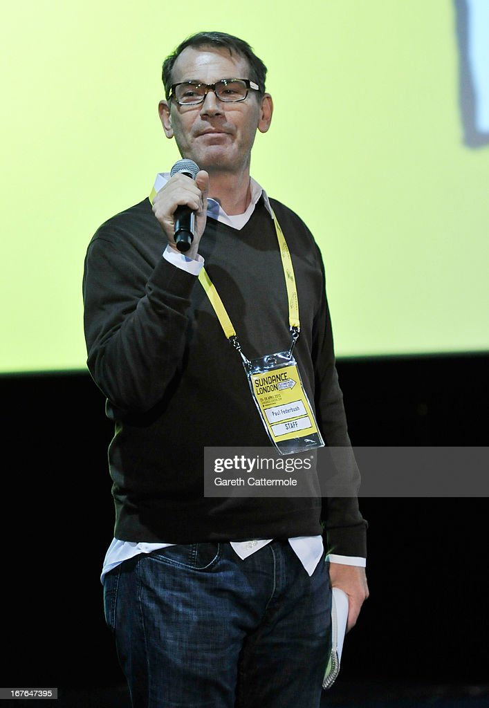 Director of the Feature Film Programme Paul Federbush speaks at the Screenwriting Flash Lab during the Sundance London Film And Music Festival 2013 at Sky Superscreen O2 on April 27, 2013 in London, England.