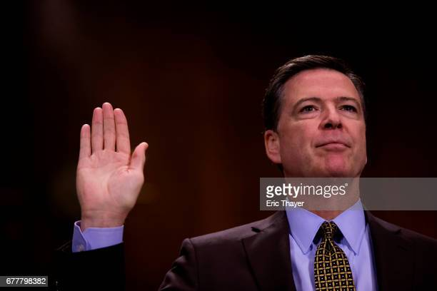 Director of the Federal Bureau of Investigation James Comey testifies in front of the Senate Judiciary Committee during an oversight hearing on the...