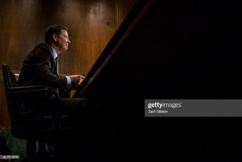 Director of the Federal Bureau of Investigation, James Comey testifies in front of the Senate Judiciary Committee during an oversight hearing on the FBI on Capitol Hill May 3, 2017 in Washington, DC. Comey is expected to answer questions about Russian involvement into the 2016 presidential election.