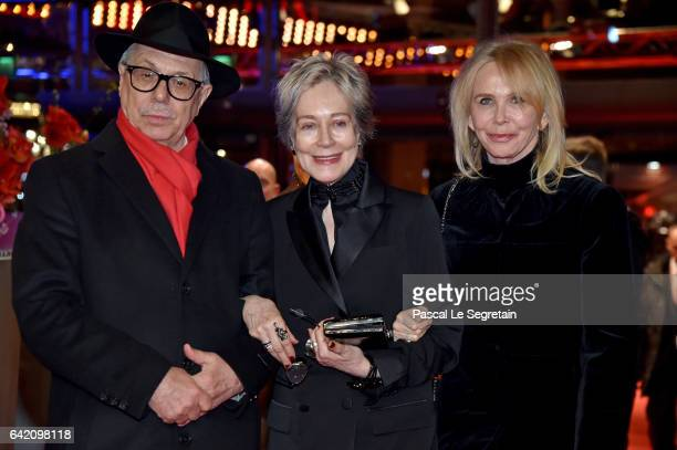 Director of the festival Dieter Kosslick costume designer Milena Canonero and actress Trudie Styler attend the 'The Shining Hommage Milena Canonero'...