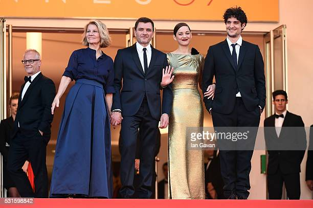 Director of the festival Thierry Fremaux director Nicole Garcia actor Alex Brendemuhl actress Marion Cotillard and actor Louis Garrel attend the...