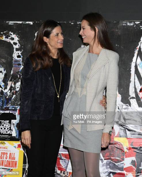 Director of the film and model Christy Turlington Burns and Livia Firth attending the screening of No Woman No Cry during the BFI London Film...