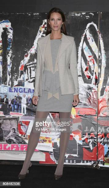 Director of the film and model Christy Turlington Burns attending the screening of No Woman No Cry during the BFI London Film Festival at BFI...