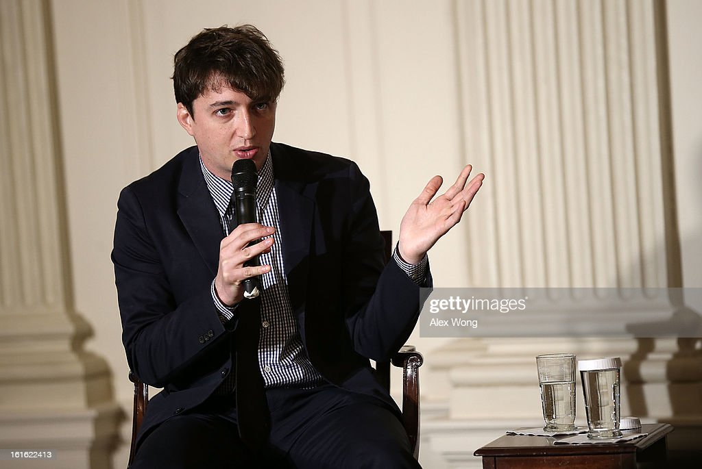 Director of the film Beasts of the Southern Wild Benh Zeitlin speaks during an interactive student workshop at the State Dining Room of the White House February 13, 2013 in Washington, DC. U.S. first lady Michelle Obama hosted middle and high school students from the DC area and New Orleans to participate in the event.