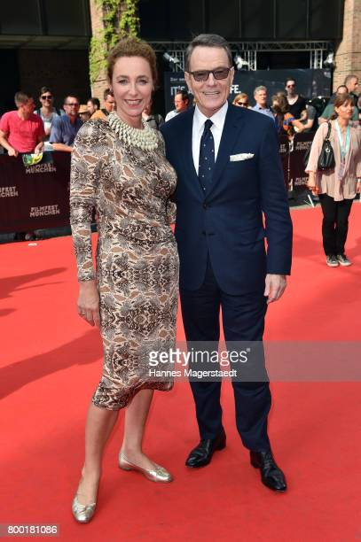 Director of the Filmfest Munich Diana Iljine and actor Bryan Cranston attend the Cine Merit Award Gala during the Munich Film Festival 2017 at...
