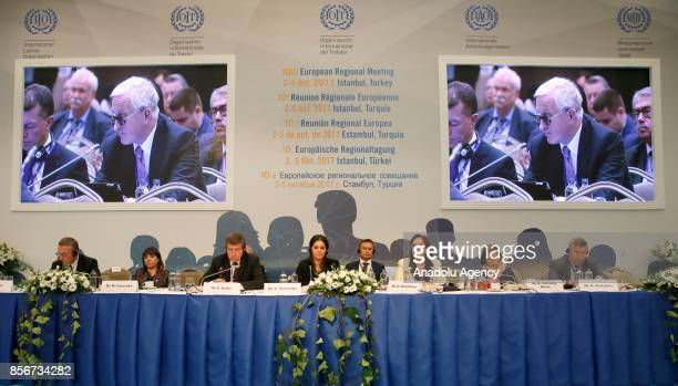 Director of the ILO Dimitrina Dimitrova and Employer spokesperson to the ILO Renate HornungDraus attend the 10th European Regional Meeting in...