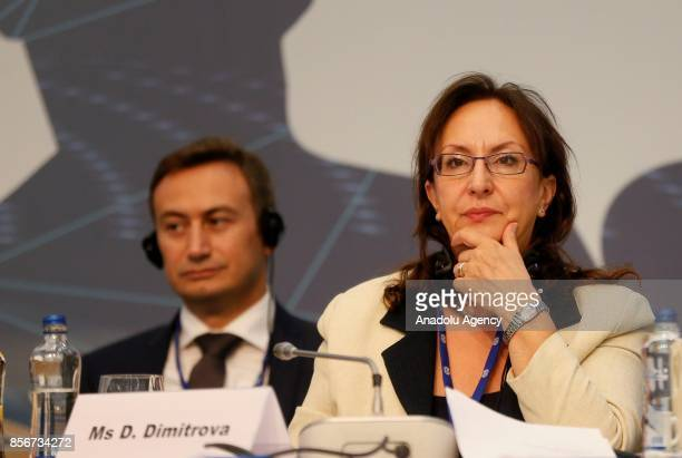 Director of the ILO Dimitrina Dimitrova speaks during the 10th European Regional Meeting in Istanbul Turkey on October 2 2017