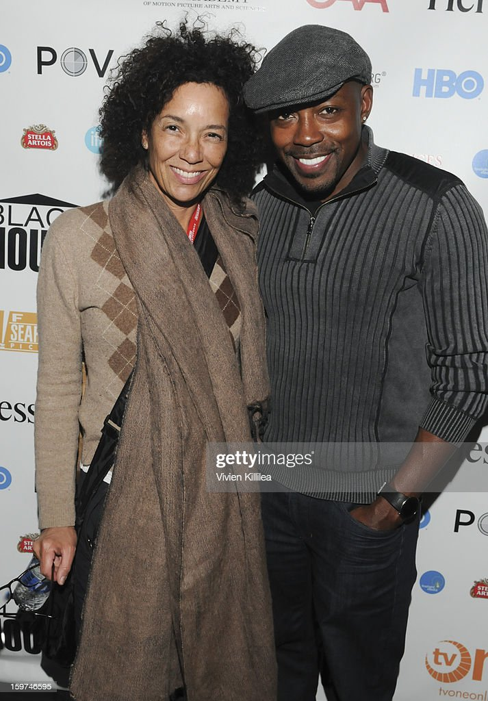 Director of the Los Angeles Film Festival Stephanie Allain and producer Will Packer attend the Academy Conversation With Will Packer At Sundance Film Festival - 2013 Park City on January 19, 2013 in Park City, Utah.