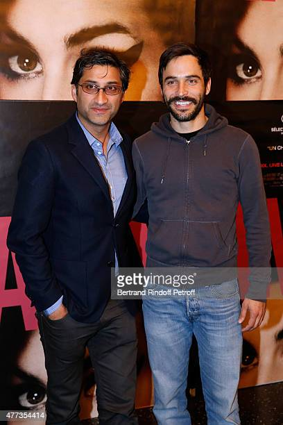 Director of the movie Asif Kapadia and Actor of his next movie 'Ali and Nino' Assaad Bouab attend the 'Amy' Paris Premiere held at Cinema Max Linder...