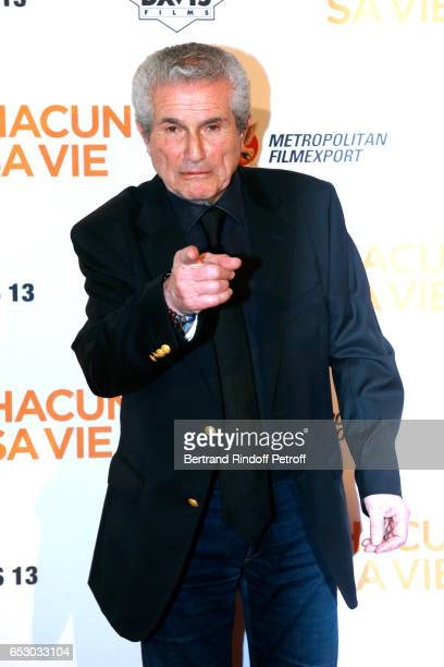 Director of the movie Claude Lelouch attends the 'Chacun sa vie' Paris Premiere at Cinema UGC Normandie on March 13 2017 in Paris France